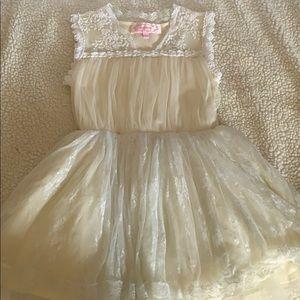 Flowy Cream Color Toddler Dress